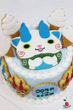 Komasan & Komajiro from Yo-Kai Watch Yo-Kai Watch Cake Icing cookies