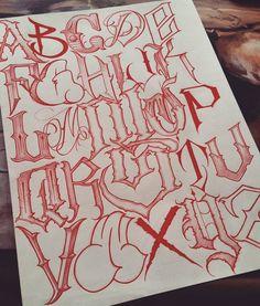 Graffiti Lettering Alphabet, Tattoo Fonts Alphabet, Chicano Lettering, Graffiti Font, Graffiti Drawing, Creative Lettering, Lettering Design, Hand Lettering, Letras Cool