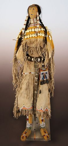 Doll, Cheyenne, (Tsistsistas), Plains, ca. 1870. NA.507.133. http://centerofthewest.org/2014/11/03/points-west-buffalo-culture-collection/
