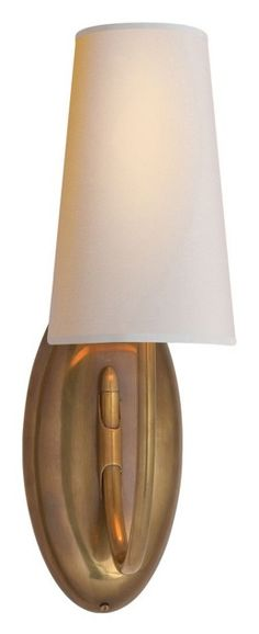 Thomas O'Brien Selecta Sconce in Hand-Rubbed Antique Brass with Natural Paper Shade by Visual Comfort TOB2064HAB-NP