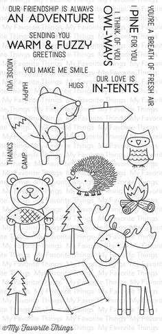 Warm & Fuzzy Friends stamp set #mftstamps