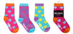 Our hearts are aflutter for these Girl Kid Heart Socks by #trumpette #shopweaver #kidssocks www.weaverdistribution.ca