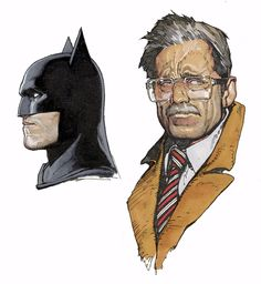 Batman and Gordon by Travis Charest. Absolutely one of the best Gordon pieces ever.