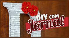 DIY - Decorando com JORNAL + enfeite simples de fazer