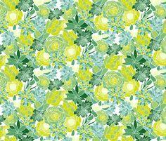 Succulent Succulents fabric by emilyannstudio on Spoonflower