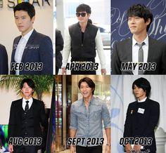 Hyun Bin styles of 2013 (Watch his hair grow... he's the cutest chia pet I've ever seen!