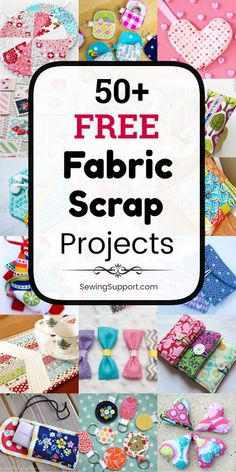 Sewing projects using Fabric Scraps. 50 free fabric scrap sewing projects diy tutorials and patterns. Sew quick and easy simple fabric crafts using small leftover fabric scraps. Many beginner friendly projects. Scrap Fabric Projects, Sewing Projects For Beginners, Fabric Scraps, Knitting Projects, Fabric Scrap Crafts, Teen Sewing Projects, Sewing Machine Projects, Sewing Hacks, Sewing Tutorials
