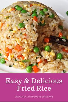 The best & healthy recipes of Easy Delicious Fried Rice Fried Rice Recipe Indian, Chicken Fried Rice Recipe Easy, Best Fried Rice Recipe, Chicken Rice Recipes, Brown Rice Recipes, Easy Rice Recipes, Rice Breakfast Recipes, Vegetarian Rice Recipes, Healthy Asian Recipes