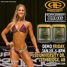 Demo Alert!!! Tomorrow at @supplementkinglethbridge with @nic_isfit from 5-8pm!!! #agarmy #demo #samples #supplements #bikini #bodybuilding #fitness #creatine #preworkout #fatburner #muscle #lethbridge #alberta #supplementking #sk #fitfam #gym #workout #instafit