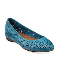 23f755f419 Plush Bea in Turquoise Leather - Womens Shoes from Clarks Shades Of Teal