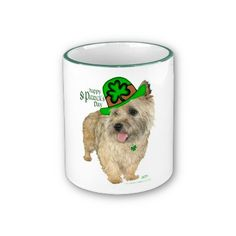 Cairn Terrier St. Patrick's Day Coffee Mugs by LittleWhiteDogRescue