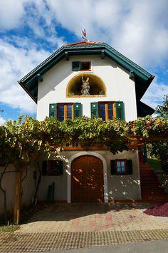 Wine cellars of the South Burgenland vineyards, Rechnitz, Austria