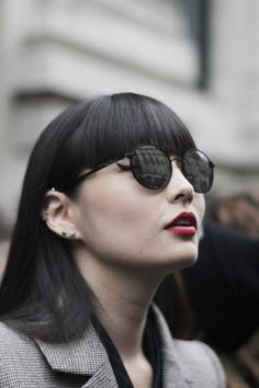 Amazing japanese model Kozue Akimoto after  Vivienne Westwood fashion show. (At PFW Paris Fashion Week S/S14) - shot by Jung Hally