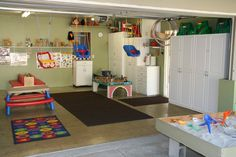 daycare in garage pictures | home based daycare center all the bells and whistles of a daycare ...