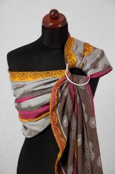 Ringsling, Jacquard Weave (100% cotton) - Coffee Lace - LennyLamb.com