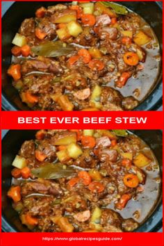 Ingredients 2 pounds beef stew meat ½ cup all-purpose flour 1 tablespoon seasoning salt 2 tablespoons olive oil ½ teaspoon black pepper 1 la. Skinny Recipes, Skinny Meals, Classic Beef Stew, Whats Gaby Cooking, Frozen Green Beans, Beef Stew Meat, Daily Meals, Brunch Recipes, Stuffed Peppers