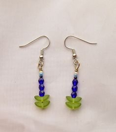 Beaded jewelry earrings Bluebonnet earrings by UniquelyArdath, $14.00