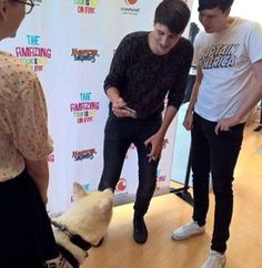 The dog was wearing merch I repeat the dog was wearing merch << there's the hand thing again..