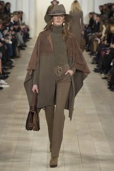 Cape Crusaders: Ralph Lauren RTW Fall2015...and will you look at that belt! It's the '70s again