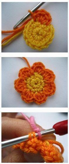 Cómo tejer flor crochet paso a paso - Paso a Paso
