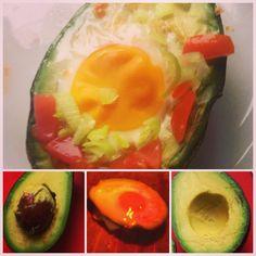 Baked avokado & egg