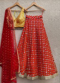 Lemon Yellow and Burnt Orange Mirror work Lehenga Set Orange Lehenga, Indian Lehenga, Lehnga Dress, Lehenga Blouse, Lehenga Choli, Indian Dresses, Indian Outfits, Mirror Work Lehenga, Work Skirts