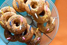 gluten free lemon + cinnamon cake donuts