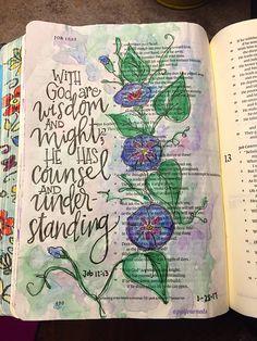journal ideas nederlands Job Bible art journaling by Job Bible art journaling by Job Bible, Faith Bible, Bible Scriptures, Journal Inspiration, Journal Ideas, Journal Art, Bible Journal, Journal Entries, Daily Inspiration