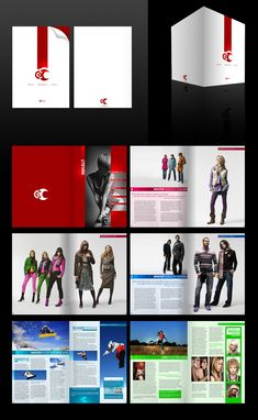 Advertising Brochure-layout, bottom two Brochure Design Samples, Brochure Layout, Brochure Inspiration, Graphic Design Inspiration, Design Ideas, Letterhead Design, Cult, Catalog Design, Publication Design