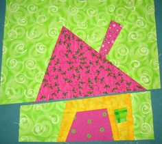 Lazy Gal Quilting: wonky house