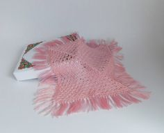 Dollhouse Miniature Square Shawl in Shantung Style by MiniatureJoy