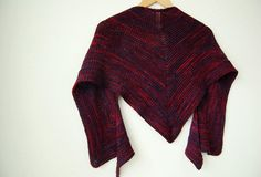 blackcurrant shawl - rain knitwear designs - knitting patterns
