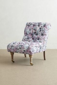 Anthropologie Abstract Print Orianna Slipper Chair #anthrofave
