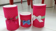 Trio de potes para decoração