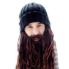 Barbarian Roadie Beard Head knit beanie with beard! Makes a great gift! Available at www.beardhead.com