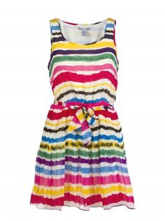 rainbow striped dress - it looks as if the stripes were painted on! i love it!