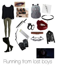 """""""Running from lost boys"""" by kjp456 ❤ liked on Polyvore featuring H&M, Alice + Olivia, The North Face, Once Upon a Time, Charlotte Tilbury and Topshop"""