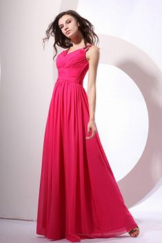 Romantic Pink Chiffon Bridesmaids Gowns - Order Link: http://www.theweddingdresses.com/romantic-pink-chiffon-bridesmaids-gowns-twdn2726.html - Embellishments: Beading , Ruched , Crystal , ; Length: Floor Length; Fabric: Chiffon; Waist: Empire - Price: 82.91USD