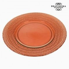 Recycled Glass Plate Coral X 28 X 2 Cm) By Bravissima Kitchen Recycled Glass, Serving Dishes, Kitchenware, Tray, Plates, Licence Plates, Serving Plates, Dishes, Griddles