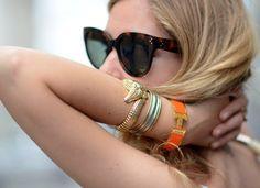 Hermes Clic Clac H Orange Bracelet