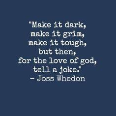 Joss Whedon Tell a joke
