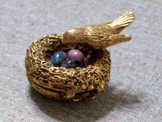 Vintage Birds Nest Solid Perfume Compact  Max by LoveLockets, $29.00