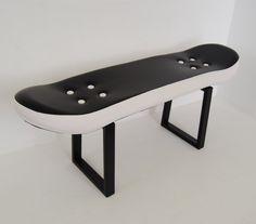 Skateboard stool Boys Room Decor skater style  Fackie por skatehome