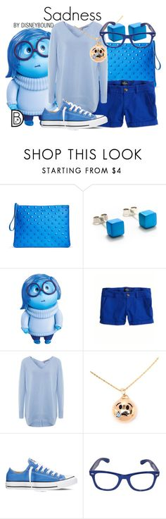 """Sadness"" by leslieakay ❤ liked on Polyvore featuring Filip Vanas, Disney, American Eagle Outfitters, 360 Sweater, KDIA, Converse, disney, disneybound and disneycharacter"