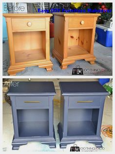 Nightstand Makeover Hale Navy 2019 Nightstand makeover navy blue nightstand navy bedside tables Hale Navy painted nightstand refinished nightstand The post Nightstand Makeover Hale Navy 2019 appeared first on Furniture ideas. Navy Furniture, Refurbished Furniture, Repurposed Furniture, Furniture Projects, Furniture Makeover, Cool Furniture, Bedside Table Makeover, Luxury Furniture, Furniture Stores