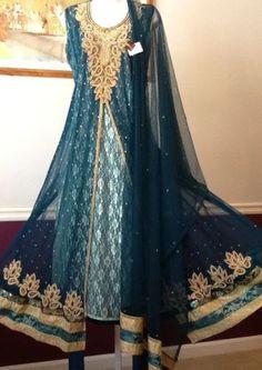 NEW-PAKISTANI-INDIAN-FANCY-WEDDING-SHAADI-SHALWAR-KAMEEZ-DRESS-3PC-2XLARGE-SUIT