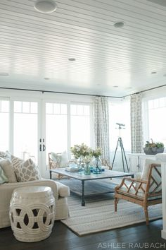 OWENS + DAVIS - Coastal Living Room photography by Ashlee Raubach