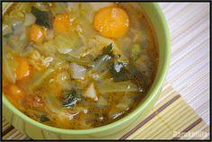 Garnkofilia: ZUPA Z MŁODEJ KAPUSTY Zero Waste, Cheeseburger Chowder, Thai Red Curry, Soup, Vegan, Ethnic Recipes, Soups, Vegans