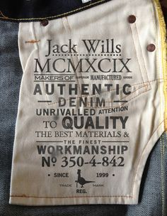 4TH AVENUE GRAPHICS FOR JACK WILLS DENIM BRANDING http://www.4th-avenue.com/