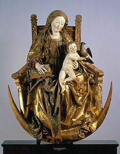 Virgin and Child Enthroned (medieval carved ivory)